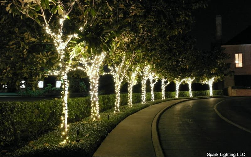residential christmas lighting tree wraps